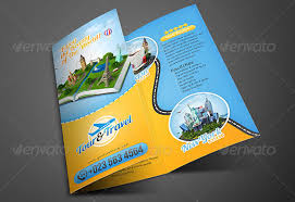 Travel Brochure Cover Design 10 Beautiful Tourist Booklet Templates For Travel Agencies _