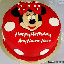 Mickey Mouse Birthday Cakes For Kids With Name Hbd Cake Minnie