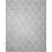 nourison galway light gray indoor handcrafted area rug common 8 x 10