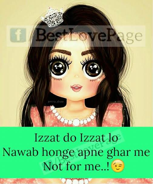 attitude shayari for girls in urdu