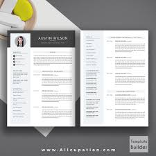 2 Page Resume Creative Resume Template Modern Cv Template Word Cover Letter 100 31