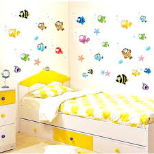lovely tropical cartoon fish sea bubble ocean world removable wall sticker washroom baby room decor stickers