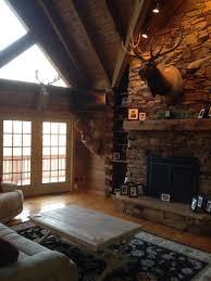 astounding log cabin living room decor