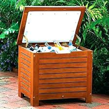 free wooden ice box plans outdoor cooler cart bag patio chest for deck or home design