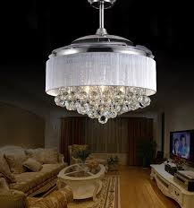chandelier and fan in same room unique led ceiling fans light ac 110v 220v invisible