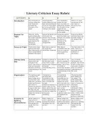 essay analysis rubric learning education rubrics essay analysis rubric