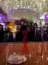 martini at the chandelier bar upper level at cosmopolitan las vegas