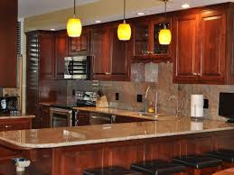 ceiling lighting ideas white countertops kitchens with cherry cabinets stunning cherr wood kitchen cabinet pictures white