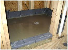 how to build a shower pan on plywood floor shower pan