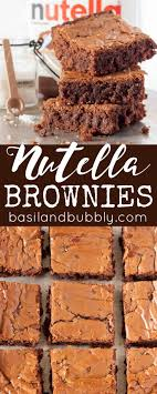 Nutella Topped Brownies 293 Best Brownies Recipes Images On Pinterest Brownie Recipes