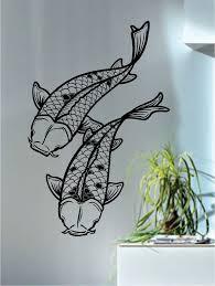 huis stunning koi carp fish wall art