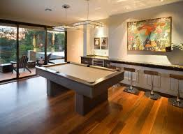 pool table lighting ideas. Semi Outdoor Modern Family Room Decorating Ideas With Big Painting . Pool Table Lighting