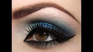 makeup tutorial navy blue drama