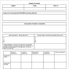 Template For Lesson Plan Common Core Lesson Plan Template