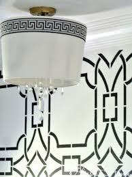 diy drum shade chandelier bliss at home featured on remodelaholic com lightfixture