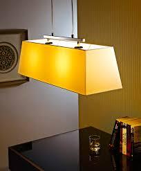 fabric material traditional type rectangular shape bar office pendant lamp