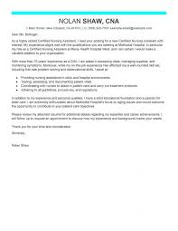 Cover Letter Examples Cna