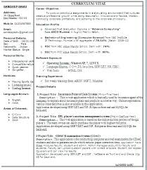 Resume Format Samples Simple Resume Format Examples Resume Format ...