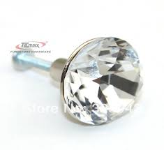 Diamond Shaped Yellow Glass Crystal Cabinet Pull Drawer Handle  B And Q  Cupboard Door Knobs