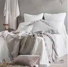with a diamond quilted pattern d edge and straight corners the hampton organic linen coverlet adds timeless texture to your bedroom