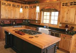 Rustic Farmhouse Kitchen Picture Of L Shaped Rustic Farmhouse Kitchen With Wooden Furniture