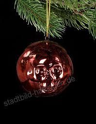 Christbaumkugel Totenkopf Rot Skull Schädel Weihnachten