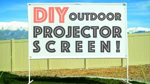diy outdoor projector screen plus micro projector review