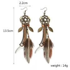 Dream Catcher Earings Classy Hippie Feather Dreamcatcher Earrings Wolvestuff