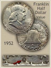 1959 Franklin Half Dollar Value Chart 1952 Franklin Half Dollar Value Discover Their Worth