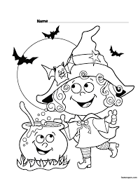 Small Picture Halloween Witch Coloring Pages GetColoringPagescom