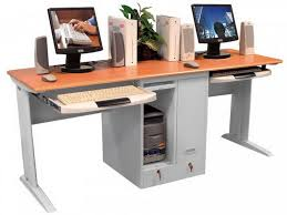computer desk for two people two person workstation for office and home office homesfeed computer desks for gamers