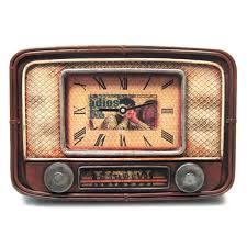 Verdici Design Bombonieres Antique Radio Clock 9x6 Bomboniere Gifts