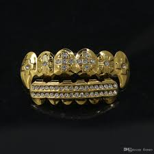 Gold Grill Designs 2019 Gold Silver Rhinestone 2 Designs Grills Set With Silicone Model Vampire Iced Out Hip Hop Jewelry Stainless Steel Jewelry From Ficoco 12 88