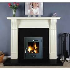 dublin corbel 54 ivory cream fireplace set stove