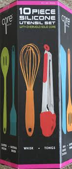 American Made Kitchen Utensils Amazoncom Core Kitchen 10 Piece Silicone Utensil Set In