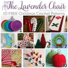 Free Crochet Christmas Ornament Patterns Inspiration FREE Christmas Crochet Patterns The Lavender Chair