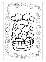 1001 Kleurplaten Seizoen Pasen Kleurplaat Mandje Paaseieren