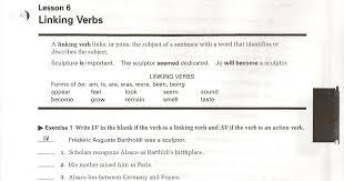 Miss Carden's Class: Linking Verbs Worksheet-Workbook page 57