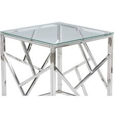 chrome glass end tables coffee table side and3
