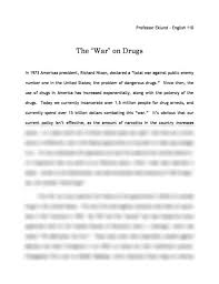 the war on drugs an explanation essay aufsatz the war on drugs an explanation report 3 on the use of cannabis for