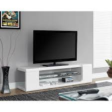 monarch tv stand for tvs up to  (i )  glossy white  tv