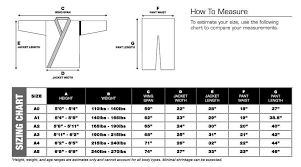 Inverted Gear Size Chart Check Out Our Hayabusa Gi Size Charts Hayabusa Size Charts