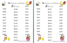 Grade Free Easter Multiplication And Division Worksheets ...