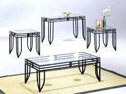 glass top end tables metal glass top coffee tables and end with metal decor 8 black