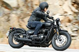 first ride triumph bobber black review visordown