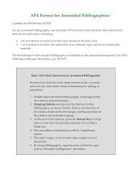 Apa Format Version 6 Template Example Of Annotated Bibliography A Format 6th Edition Owl