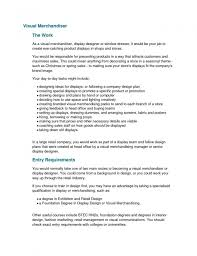 Visual Merchandiser Cover Letter No Experience Httpersume Com Resume