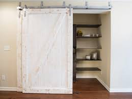 white barn door closet doors
