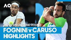 Fabio Fognini vs Salvatore Caruso Match Highlights (2R)   Australian Open  2021 - The Global Herald