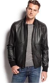 michael kors michl kors hooded leather er jacket